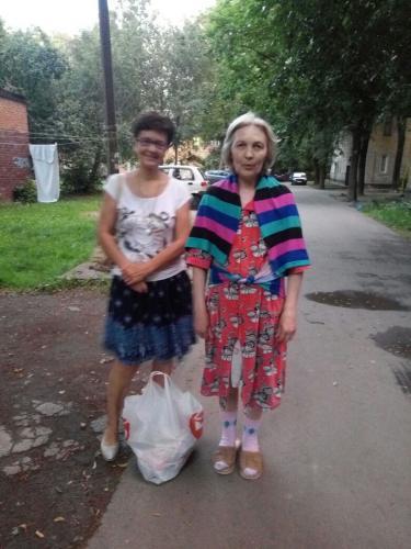 Светлана с внучкой